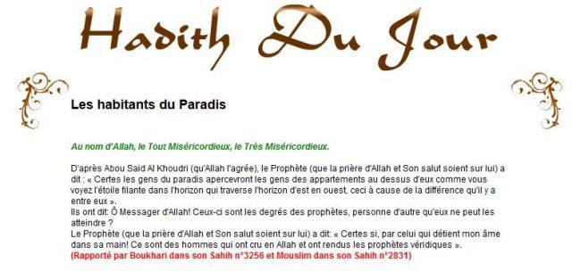 Les habitants du Paradis